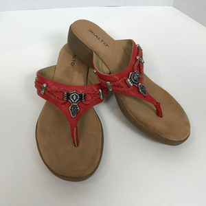 Rialto Sandals, size 9, Red